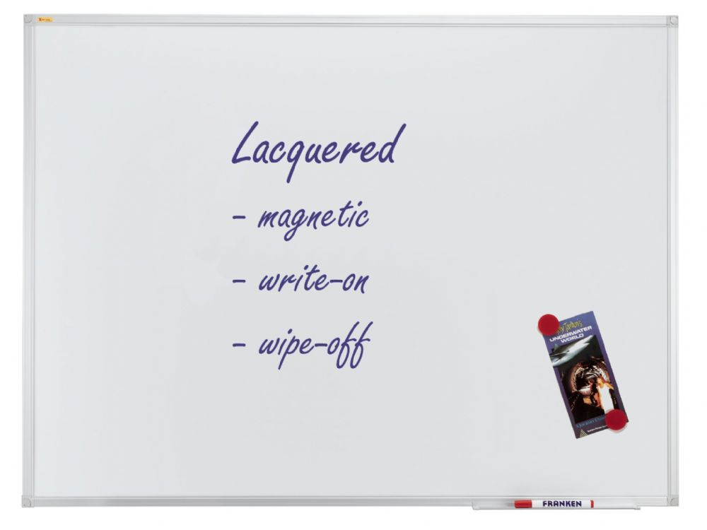 Franken Magnetic Whiteboard. Landscape or Portrait from 600mm x 450mm to 3000mm x 1200mm